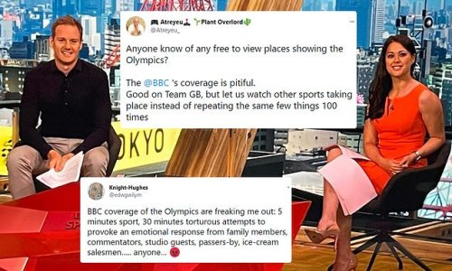 Viewers hit out at 'PITIFUL' BBC coverage of the Olympics