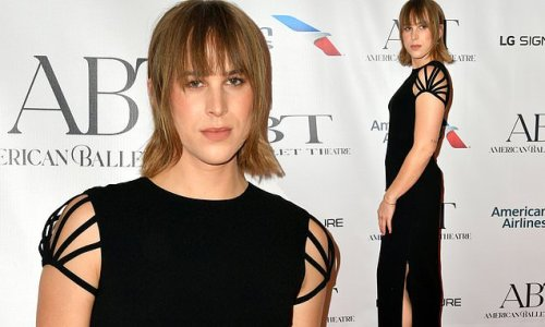 Tommy Dorfman exudes elegance in chic black gown in NYC