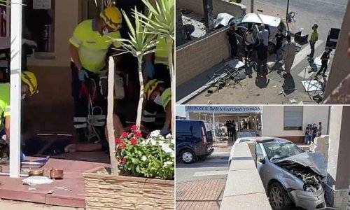Judge launches probe into driver who smashed car into Spanish bar