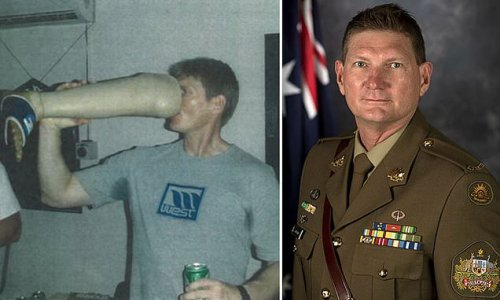 SAS soldier stands down over photo of him drinking from prosthetic leg