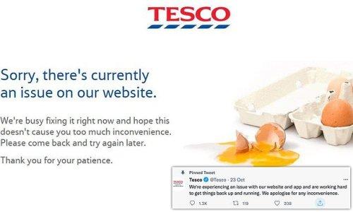 Tesco website and app crashes after 'hack attempt'