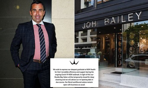 Joh Bailey's flagship salon is BIGGEST concern in Sydney's outbreak