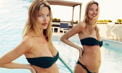 Martha Hunt reveals she is pregnant by showing off her 'growing belly'