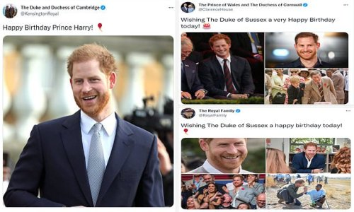 Queen leads birthday tributes to Prince Harry