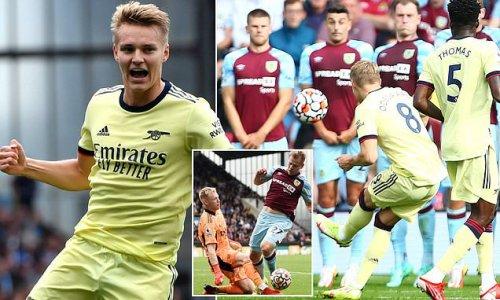 Burnley 0-1 Arsenal: Martin Odegaard scores free-kick