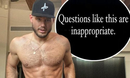 Colton Underwood slams a fan's 'inappropriate' sex-related question