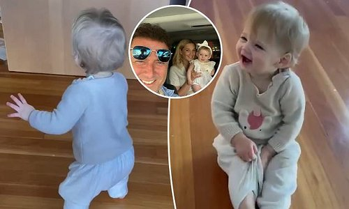 Karl Stefanovic shares a video of Harper taking her first ever steps