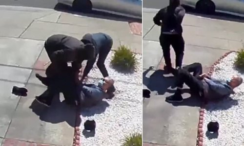 Elderly man, 80, knocked to ground by two teens heard yelling for help