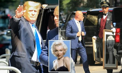 Marilyn seduces another president! Trump leaves with art of sex siren