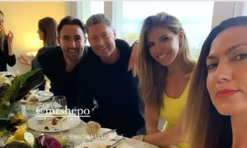 Michael Clarke parties with model pal Laura Csortan