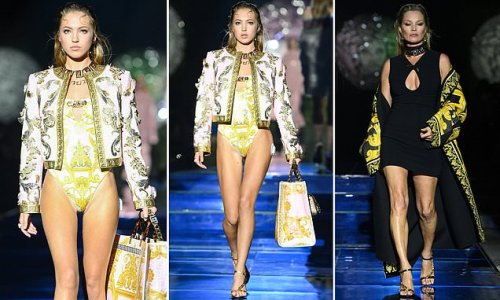 Lila Moss follows in her mother Kate Moss' footsteps in Milan