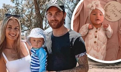 Fremantle Dockers star Nathan Wilson and partner Stevie welcome baby