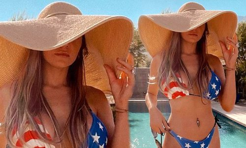 Courtney Stodden marks Independence Day in a stars-and-stripes bikini