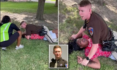 White Texas cop lays on top of 'suicidal' black girl, 18