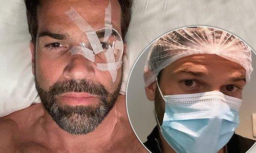 Gethin Jones reveals his swollen eye after laser eye surgery
