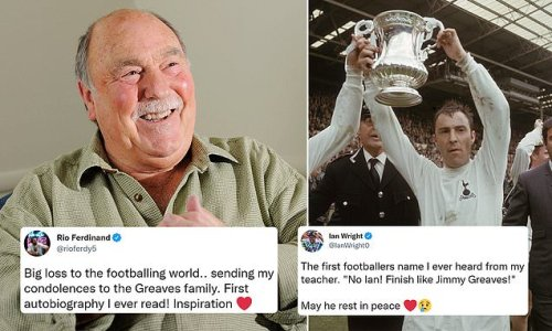 Rio Ferdinand and Ian Wright lead tributes to legend Jimmy Greaves