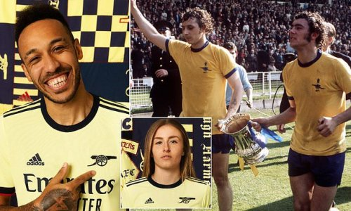 Arsenal pay tribute to 1971 Double winners with new yellow away kit