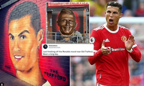 Fans hilarious claim Ronaldo mural looks like Eastenders' Pat Butcher