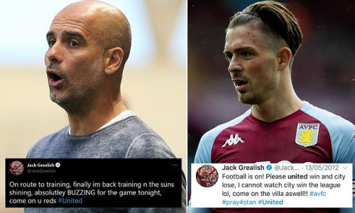 Tweets of Grealish throwing his support behind United are revealed