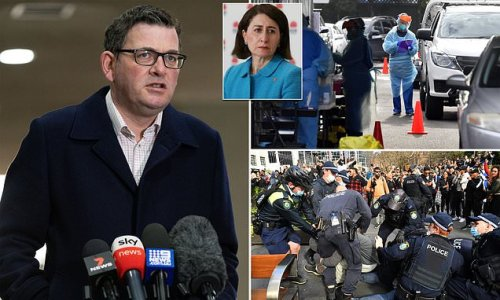Dan Andrews takes another swipe at NSW Premier over Covid-19 outbreak