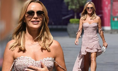 Amanda Holden puts on a busty display in flowing summer dress