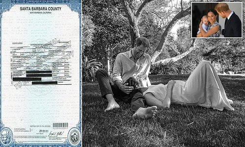 Prince Harry styles himself as 'HRH' on Lillibet's birth certificate