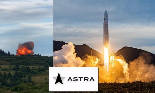 Astra's first attempt to launch rocket into orbit ends in fiery crash
