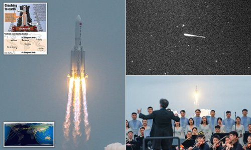 Massive chunk of China's space rocket 'is set to land in the PACIFIC'