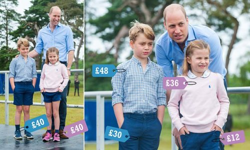Prince George matches Princess Charlotte in trainers and Boden shorts