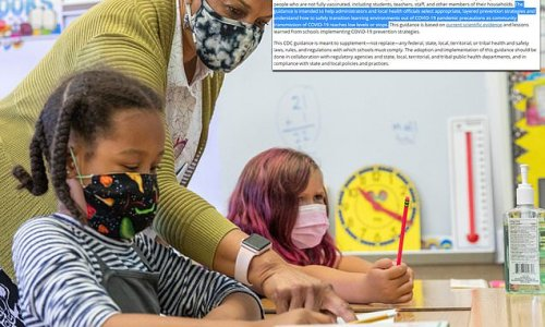 CDC removed guidance for eliminating masks from schools