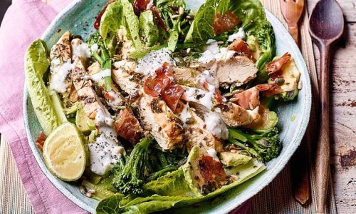 Now THAT'S a salad: Chicken & broccoli with yoghurt dressing