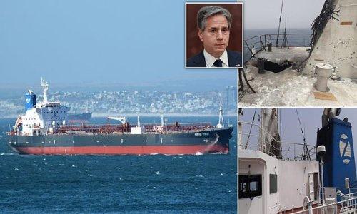Images 'showing huge crater on Israeli-linked tanker' emerge