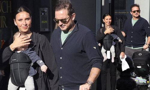Christine and Frank Lampard njoy a family day out with their children