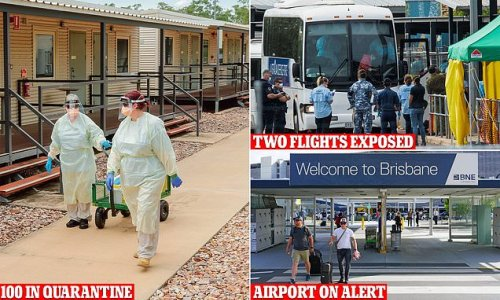 Brisbane Airport on alert after two passengers test positive for Covid