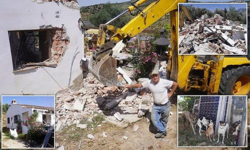 British ex-pat, 67, is forced to DESTROY his Spanish home
