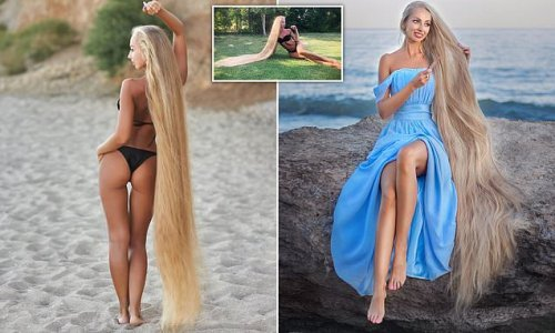Rapunzel with 6ft-long blonde hair hasn't cut her locks in 30 YEARS