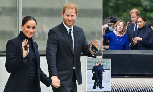 Harry and Meghan visit One World Trade Center Observatory