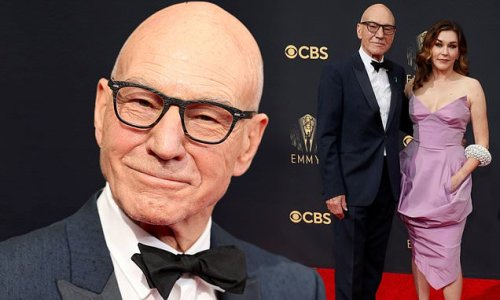 Patrick Stewart, 81, looks dapper with wife Sunny Ozell, 42, at Emmys