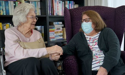 Joy for families as care home residents allowed two indoor visitors