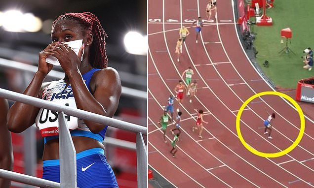 Why Team USA's mixed 4x400m relay team was disqualified