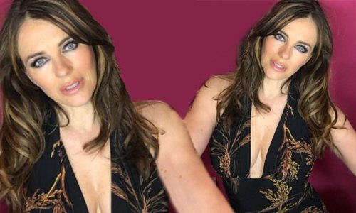 Elizabeth Hurley puts on an eye-popping display in a busty ensemble