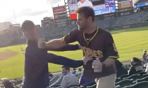 Padres fan knocks out Rockies supporter with punch sparking mass fight