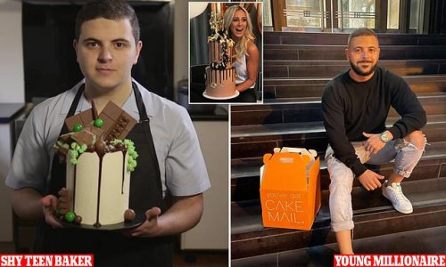 'Shy' teen baker who became a millionaire unveils body transformation