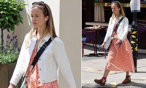 Lady Amelia Windsor takes a walk in Soho
