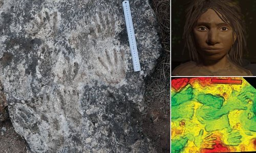 Hand and footprint found art in Tibet dates back up to 226,000 years