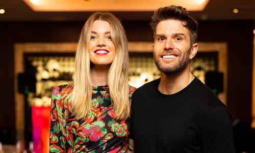 Joel Dommett and glam wife Hannah Cooper visit art show in London