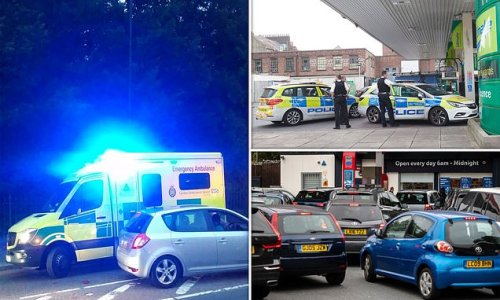 Ambulance crashes into car waiting for fuel as petrol stations close