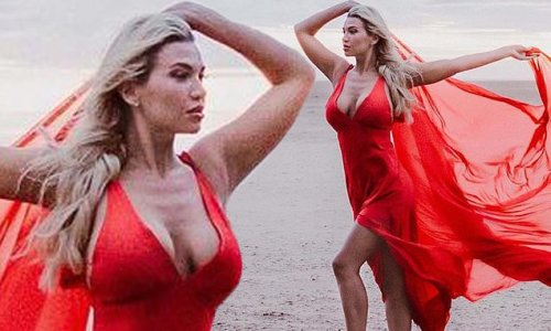 Christine McGuinness is a vision in breathtaking red gown