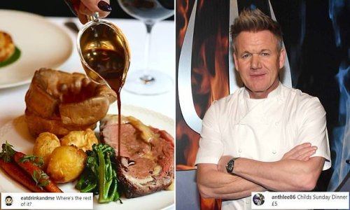 Gordon Ramsay is savaged online over his Sunday lunch