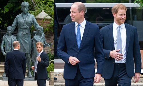 William 'mentions Harry by name' in speech for Diana statue